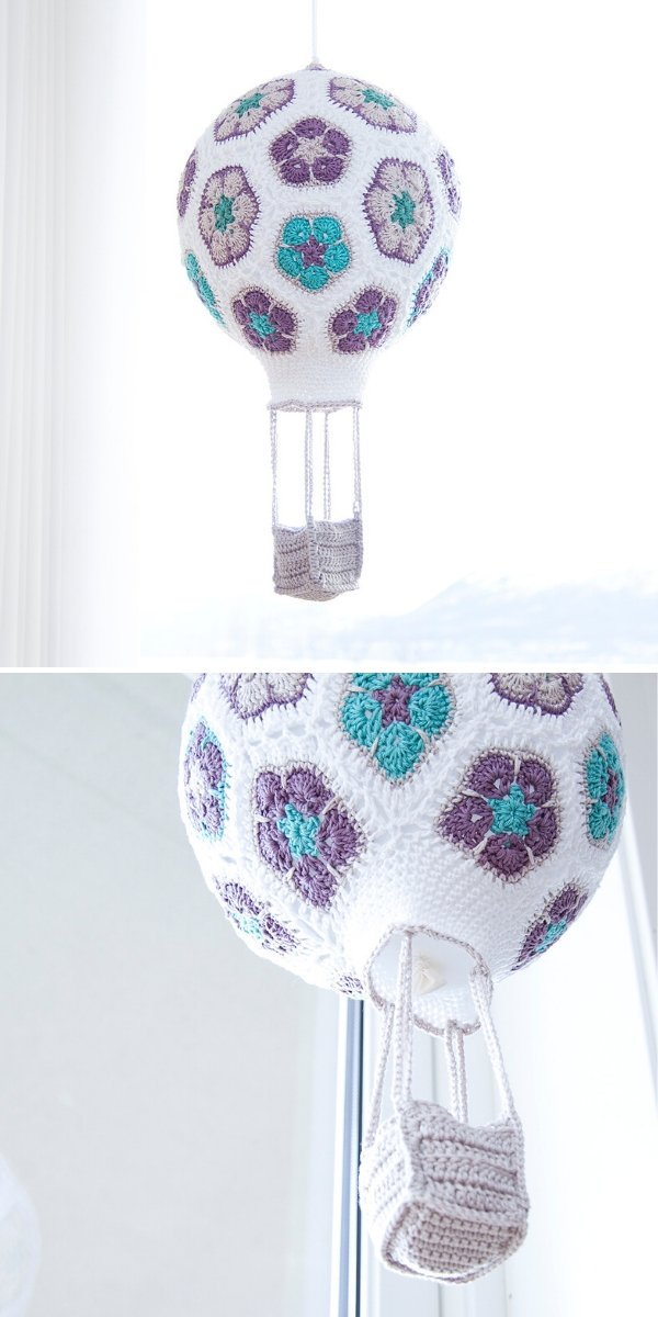 African Flower Crochet Balloon