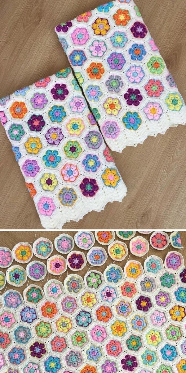 African Flower Hexagon Blankets