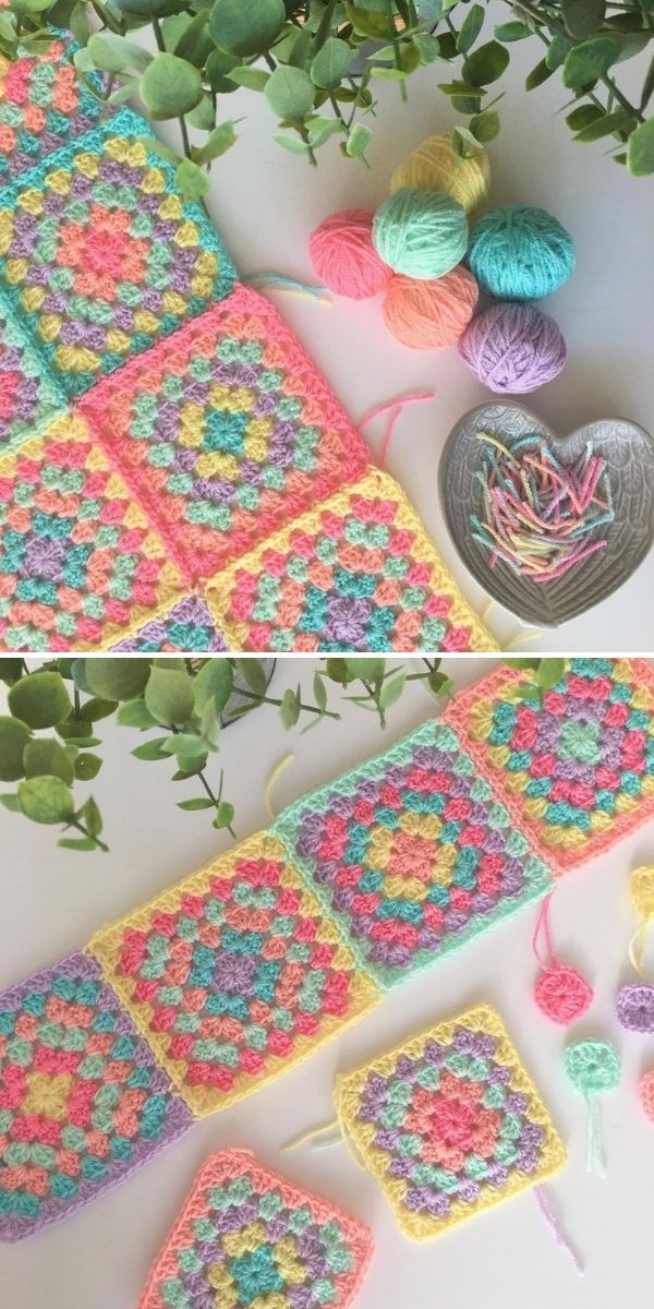 colofrul granny squares and yarns