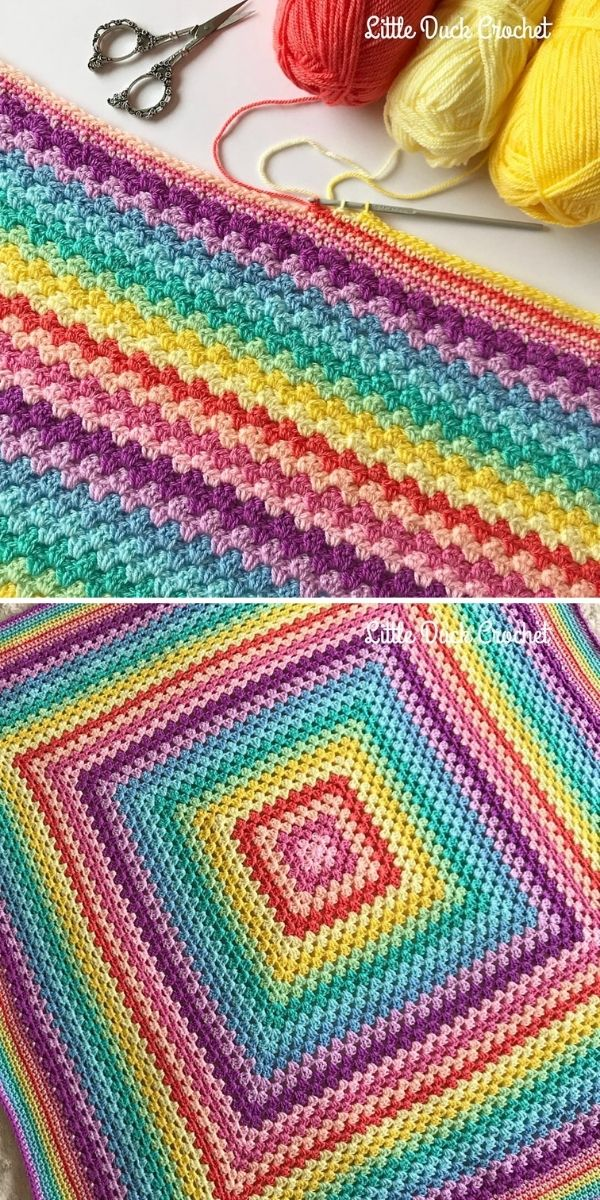 rainbow colorful blanket