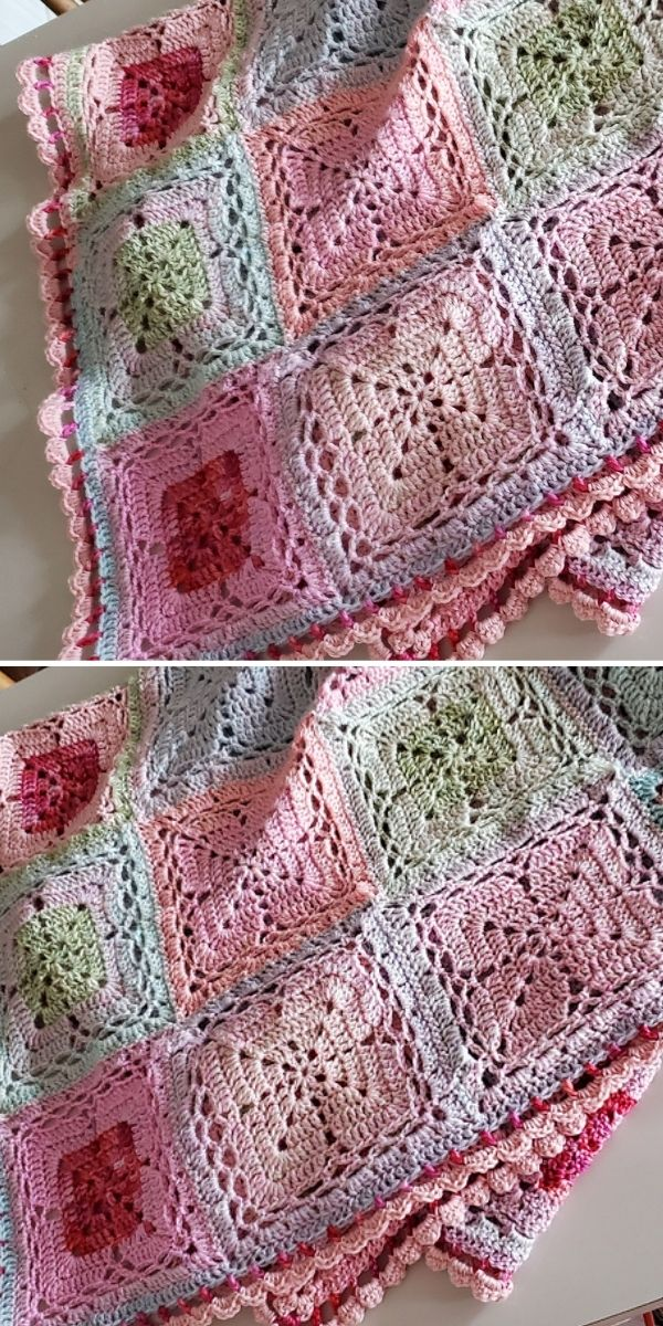 pastel lacy blanket