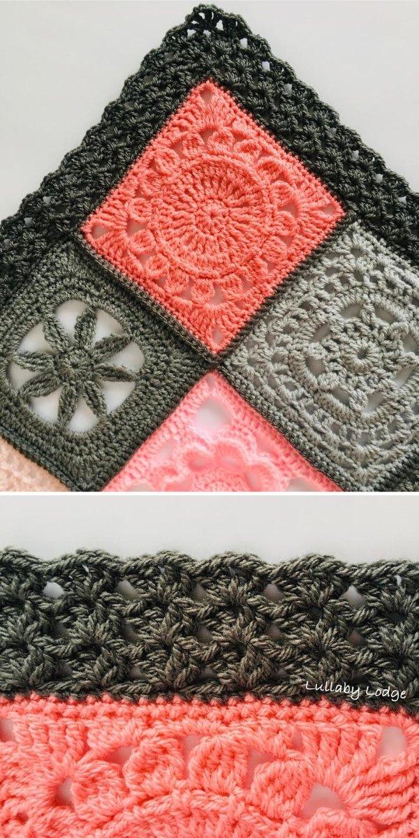 black crochet edging