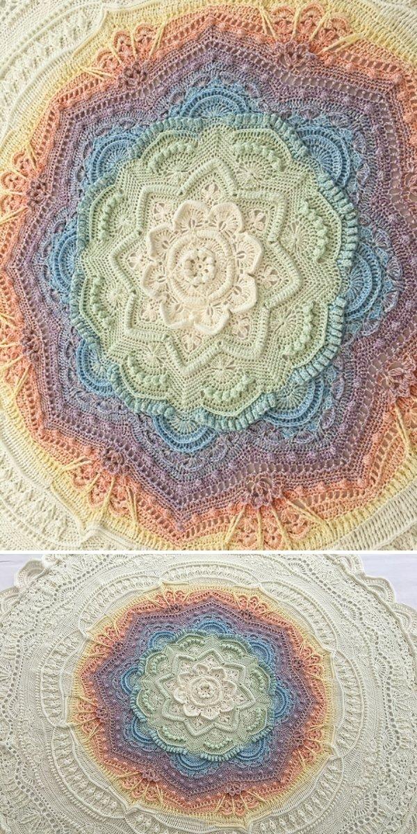 pastel crochet blanket