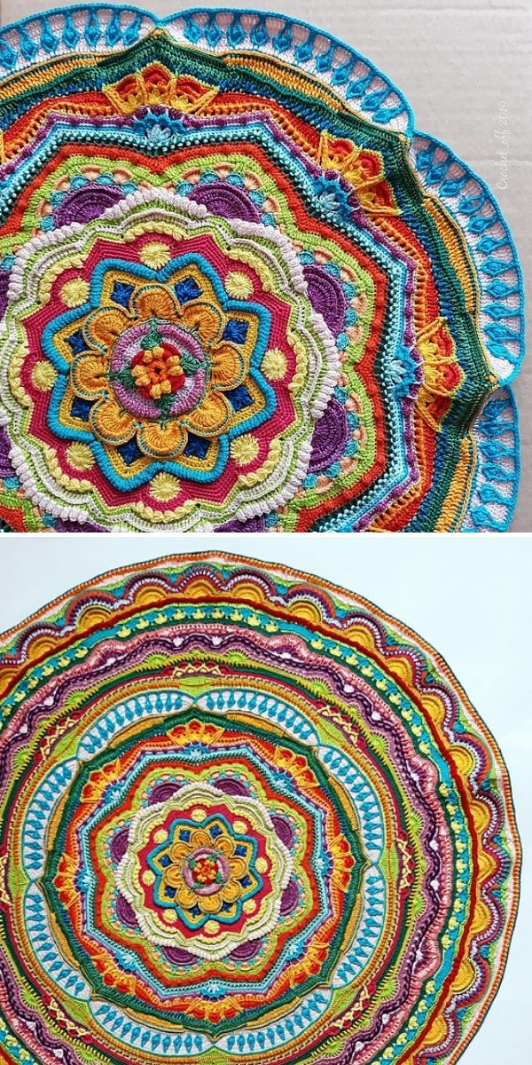 colorful intricate crochet blanket