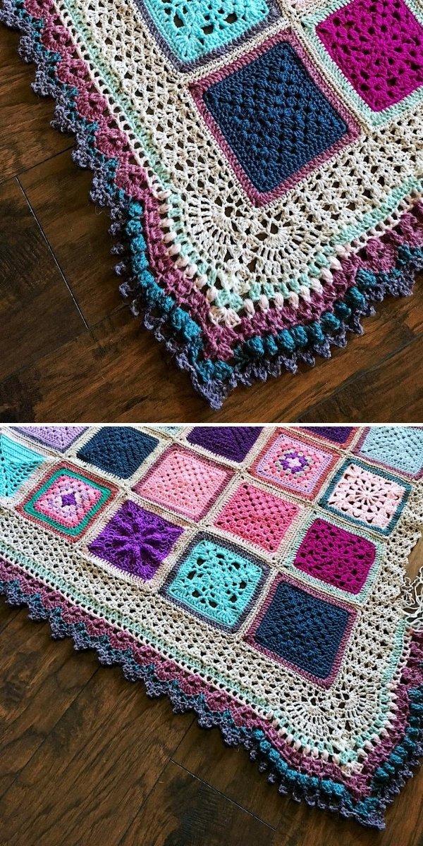 lacy ornamental blanket edging