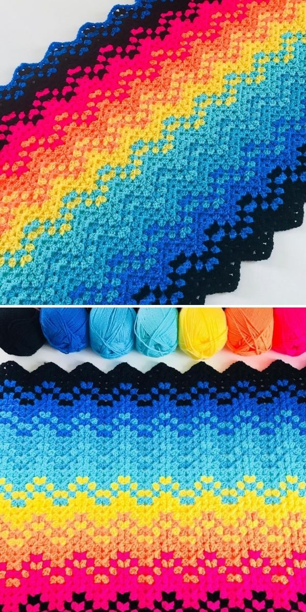 contrasting colors blanket