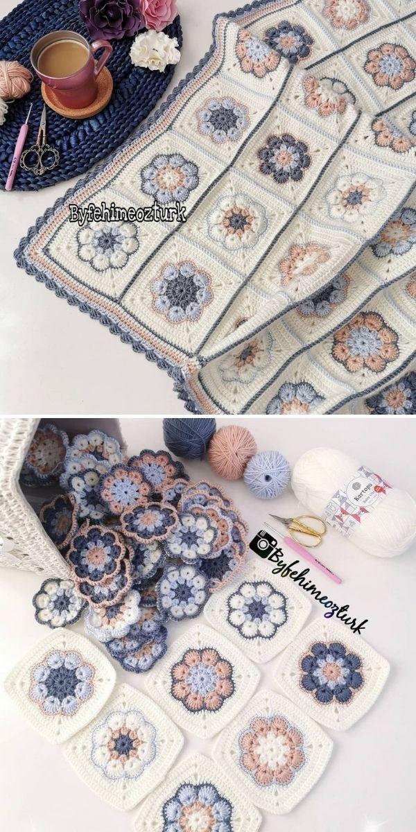 pastel flower blanket