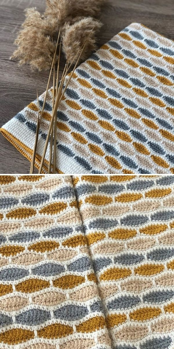 brown and white blanket