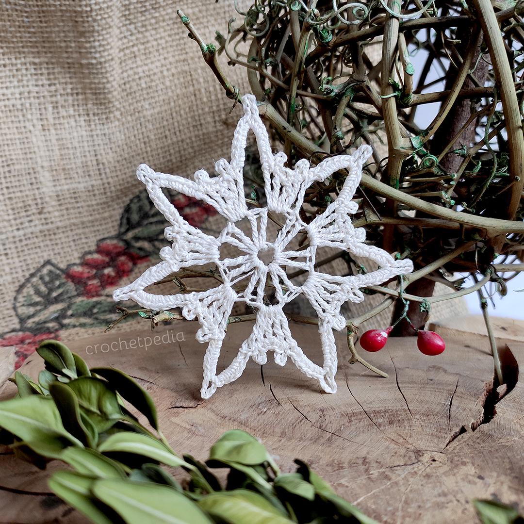big snowflake on wood