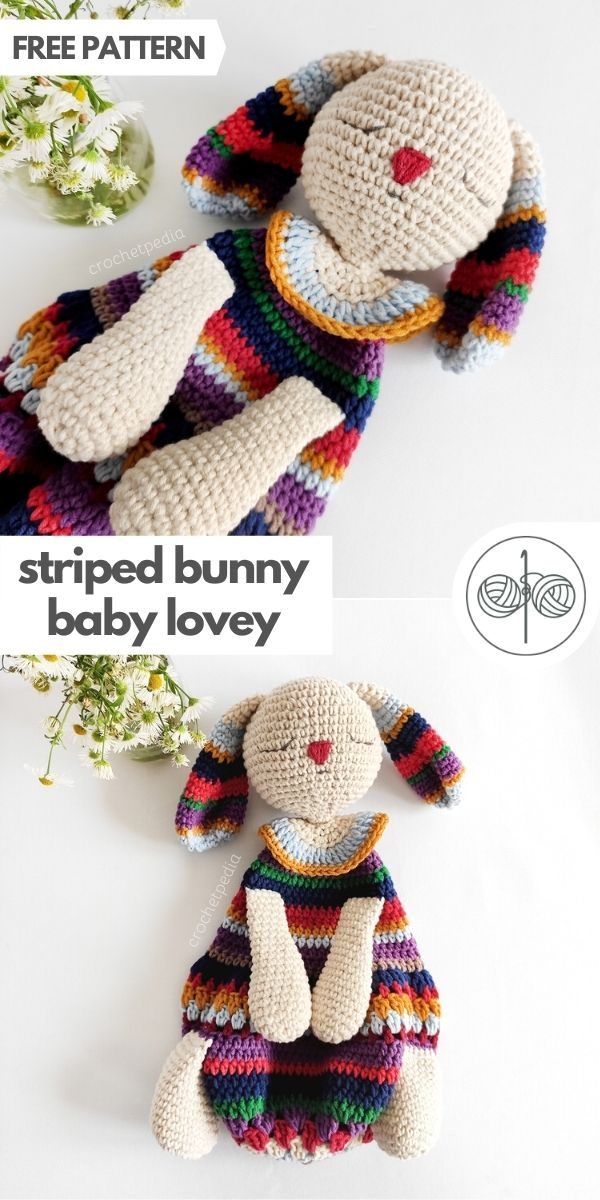 graphic with 2 photos of colorful bunny