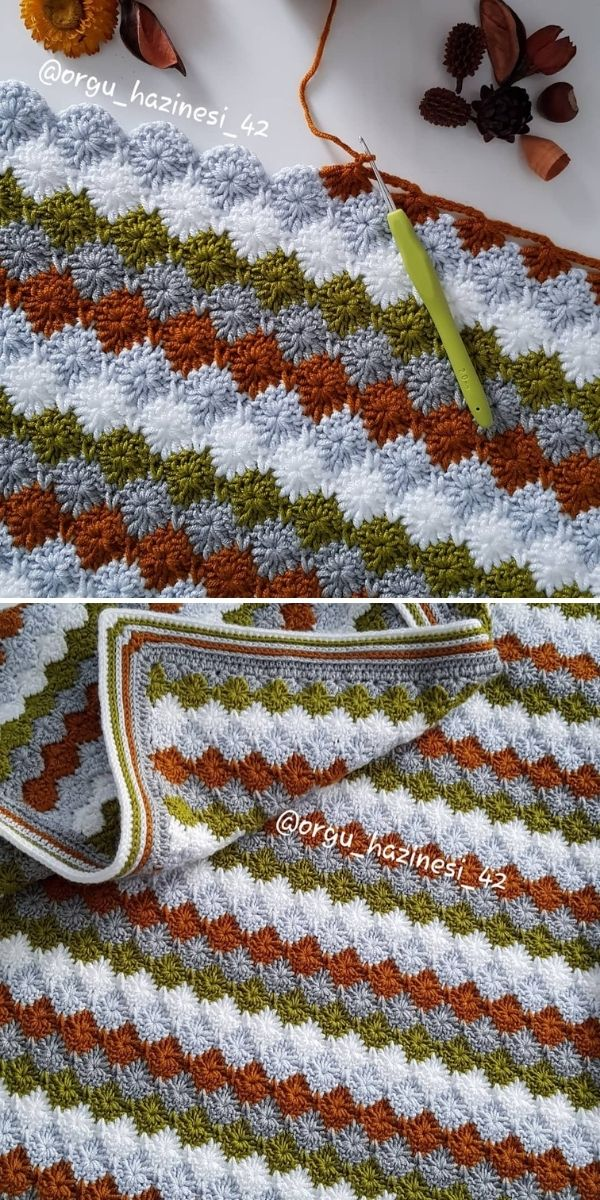 dark tones crochet blanket