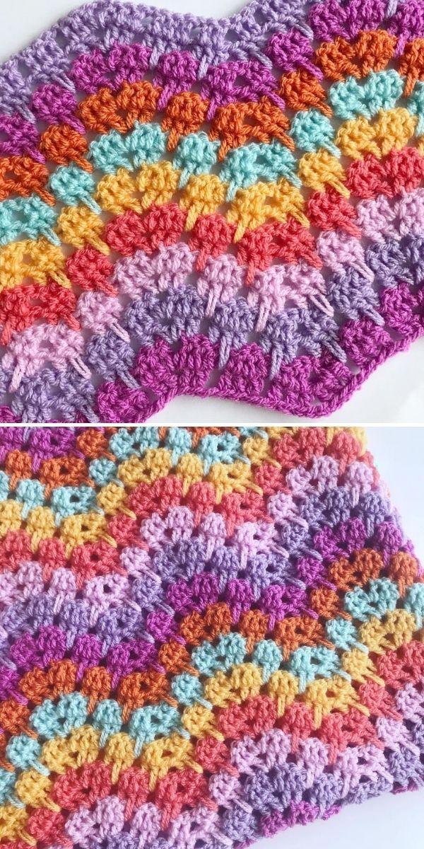 colorful zig-zag blanket