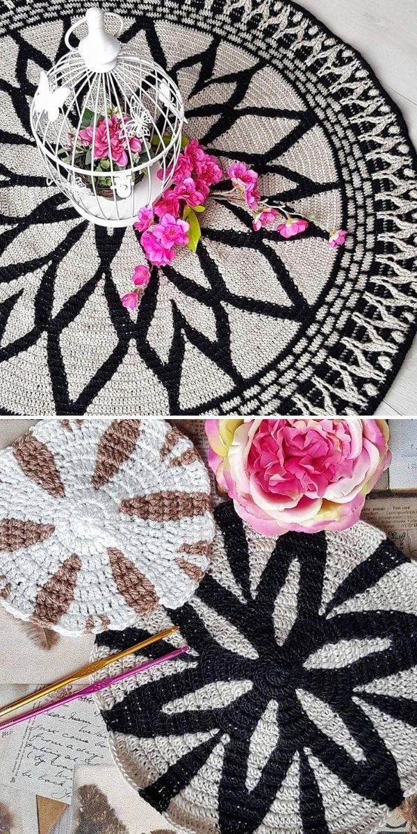 black and white rozeta centers