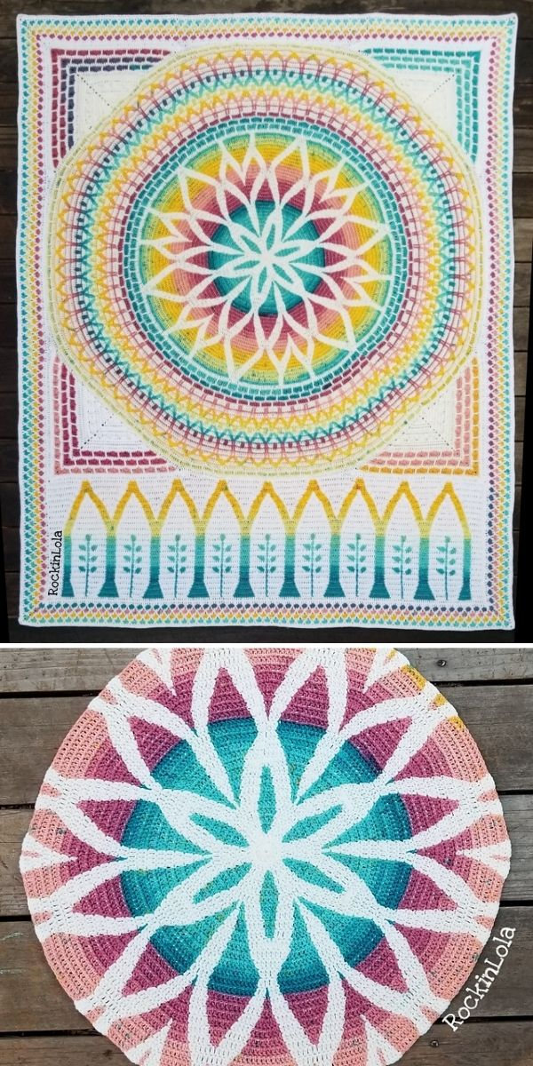 bright colors blanket with white background