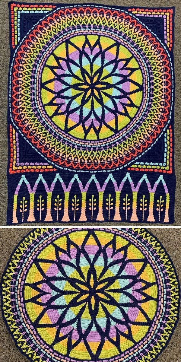 dark stained glass blanket