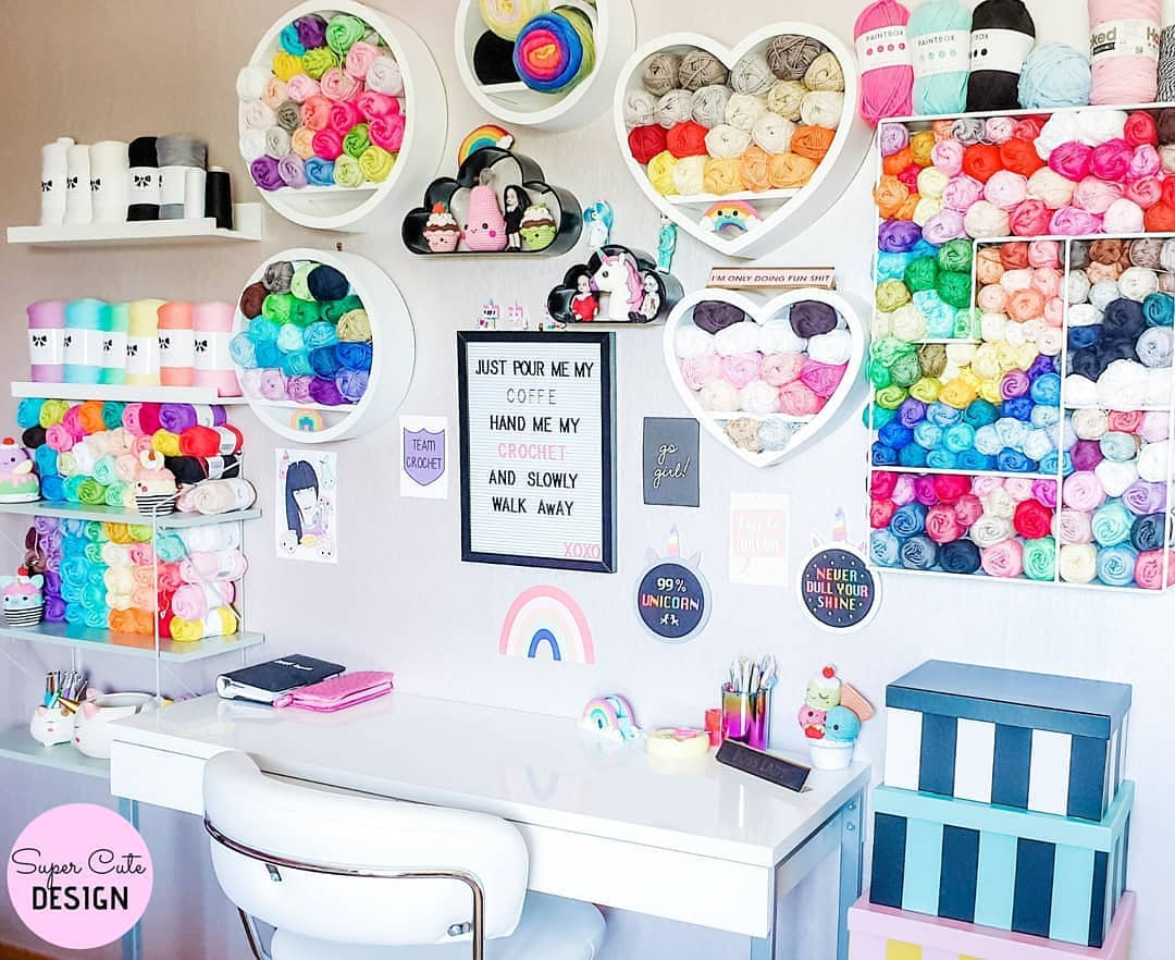 colorful crochet studio