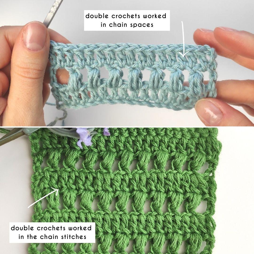 crocheting style comparison
