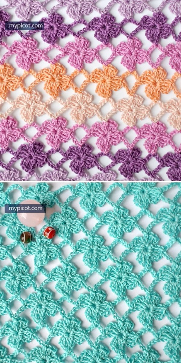 lacy crochet piece with flower pattern