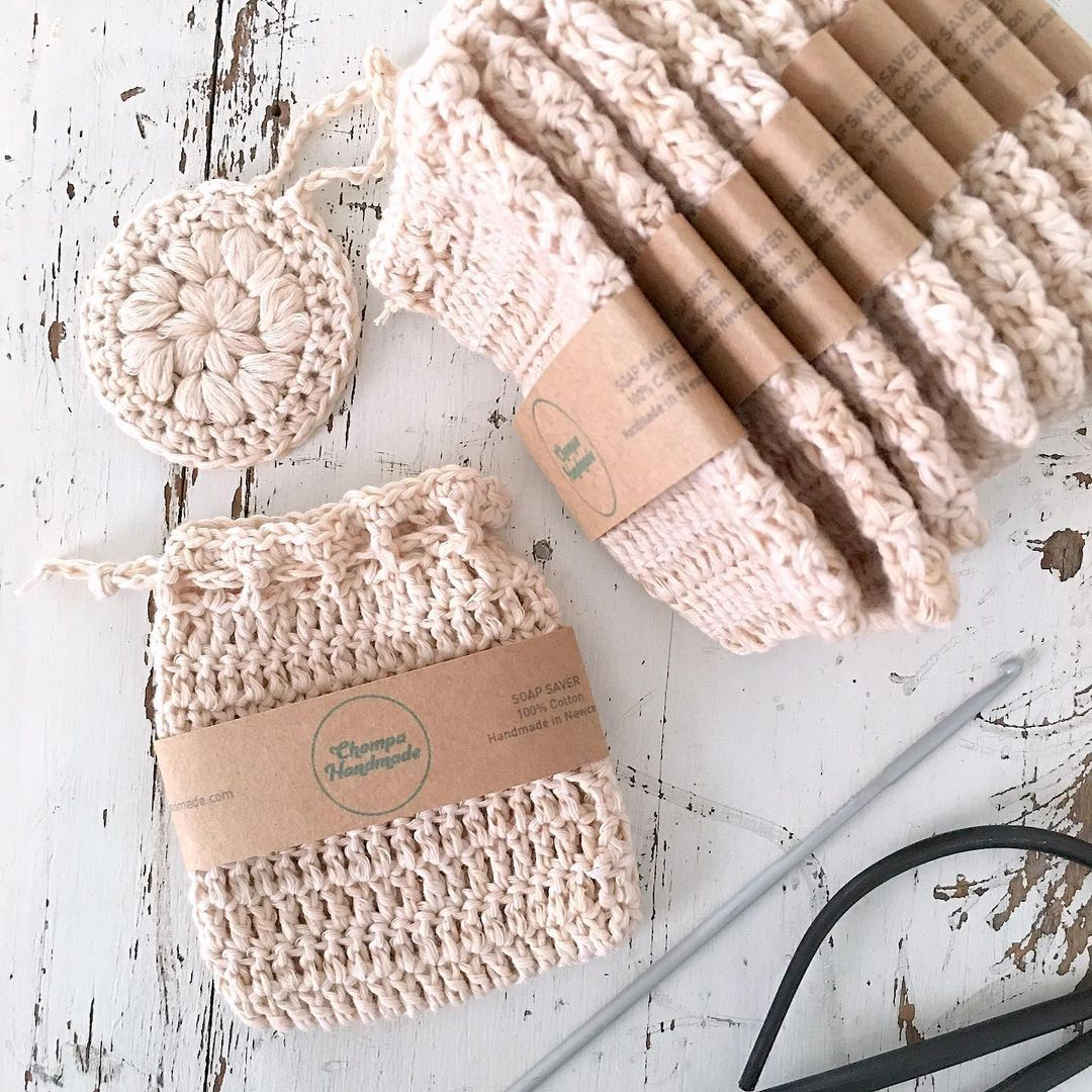 soap saver crochet bag