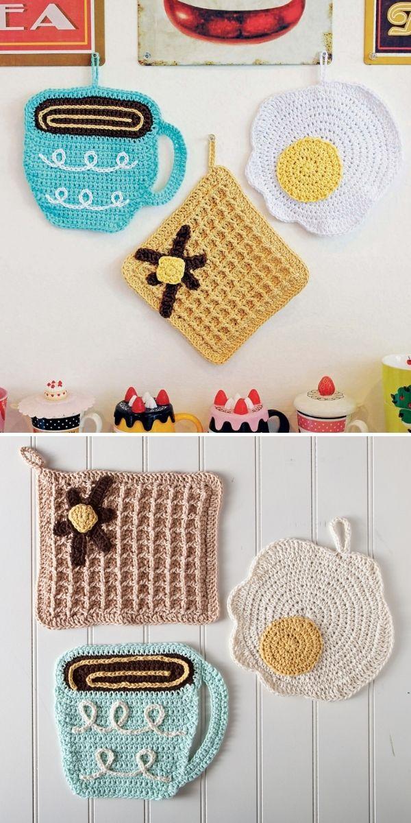 dishcloth set in fun shapes